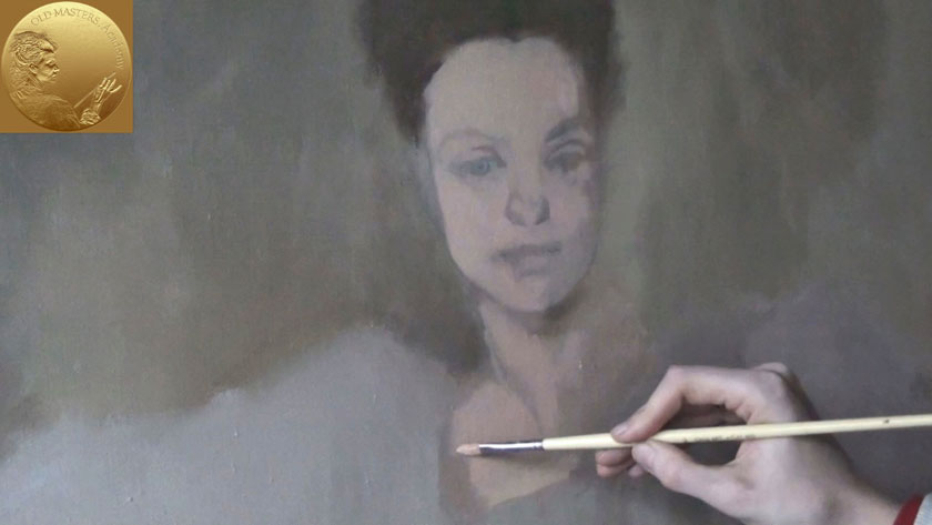 How to Paint a Portrait in the Direct Method - Portrait Underpainting in Direct Painting Method