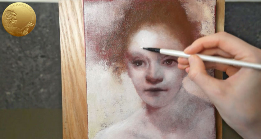 Portrait in Rembrandt's Style - Applying Glazes and Velaturas