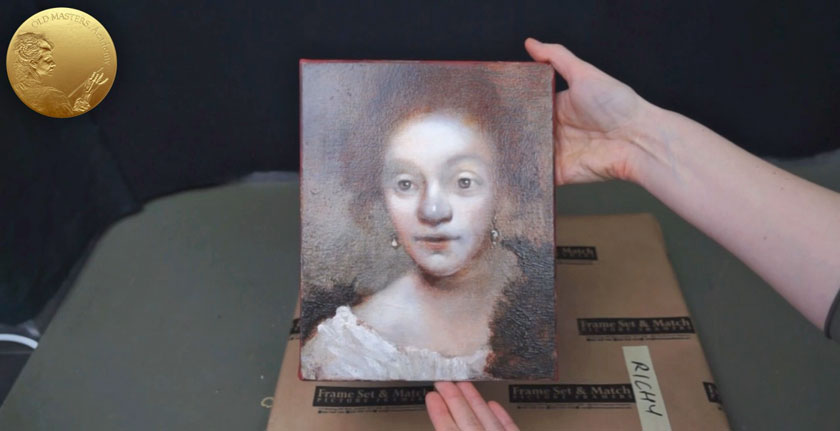 Portrait in Rembrandt's Style - How to Finish a Painting with Warm Glazes