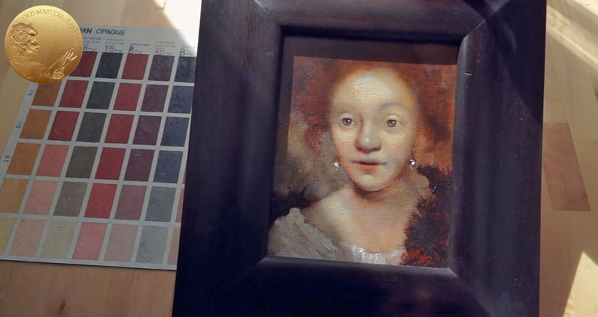 Portrait in Rembrandt's Style - Initial Stages of Oil Painting