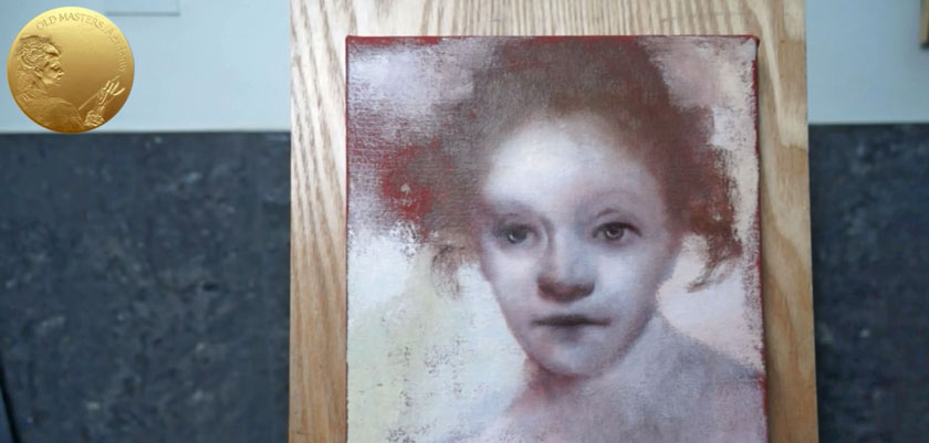 Portrait in Rembrandt's Style - Setting up the Underpainting