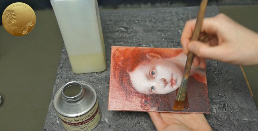 Varnishing a Painting