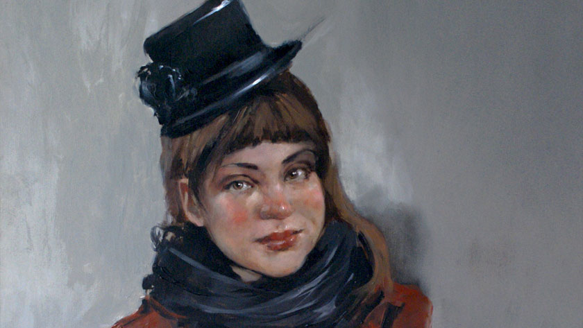 How to Paint a Woman Portrait - Working Up of a Portrait and Clothes