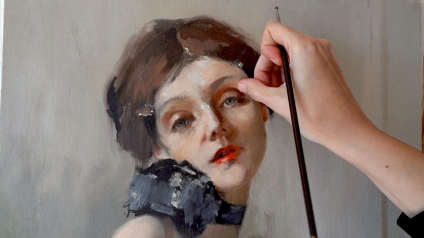 How to Paint a Self Portrait Using a Mirror - Working on Details of the Portrait