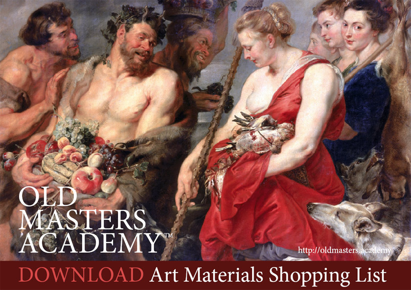 Old Masters Academy Shopping List