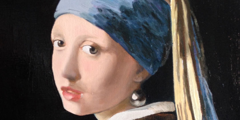 A-copy-of-Jan-Vermeer's-Girl-with-a-Pearl-Earring-by-Sergej-Karetnikov-artist