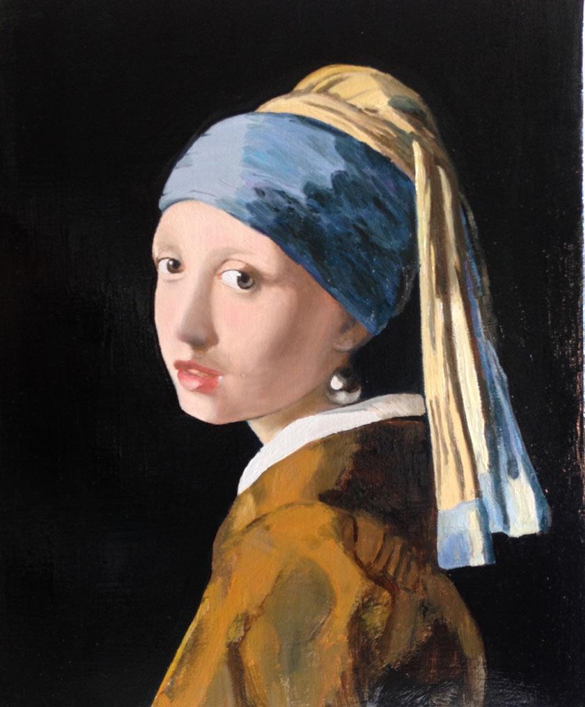 A-copy-of-Jan-Vermeer's-Girl-with-a-Pearl-Earring-by-Sergej-Karetnikov