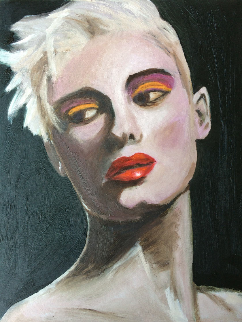 I want to paint every day a new oil painting portrait