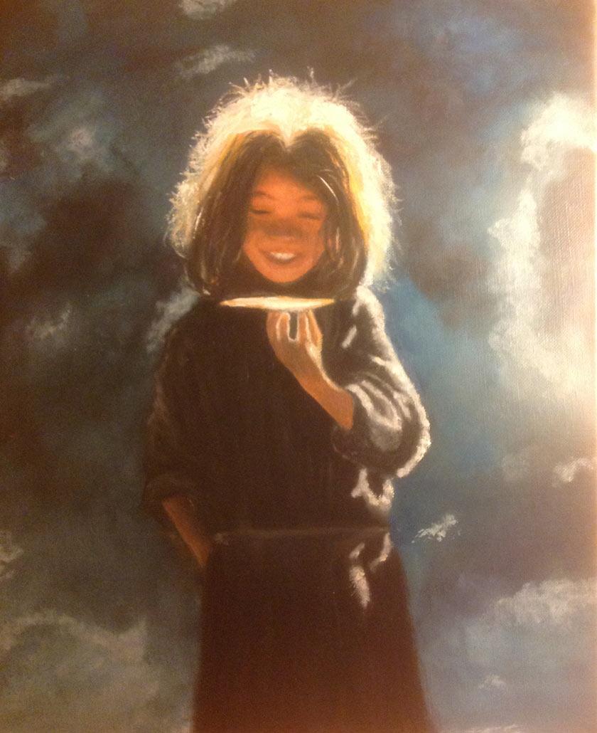 I love painting portraits I paint regularly but I am aware of the challenge ahead Paintings by Ptak Evelyne