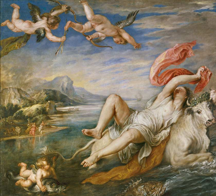 Rubens's copies of old masters-Rubens-Rape-of-Europa