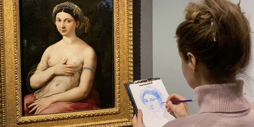 Natalie-Richy-how to draw draw like Old Masters, Raphael, Reffaello